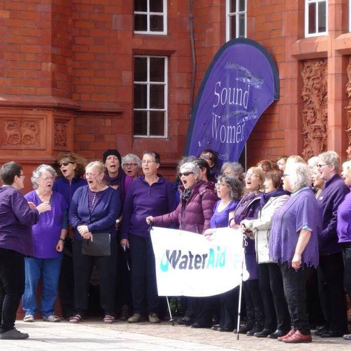 Water aid busk Cardiff Bay 2015
