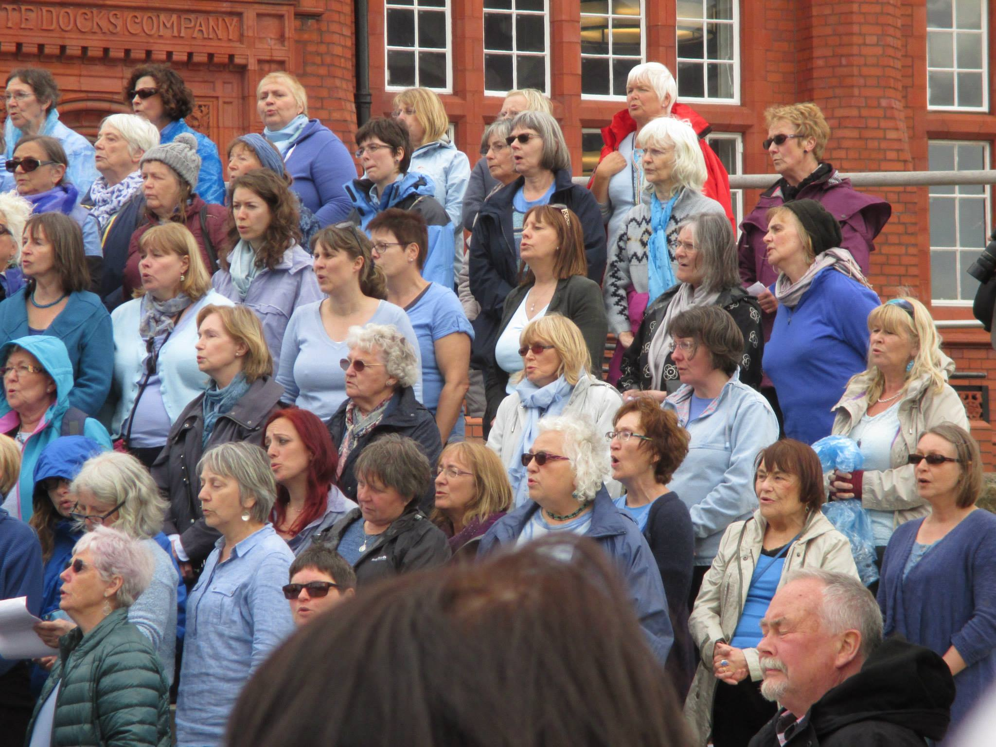 Water aid massed sing Cardiff Bay 2015